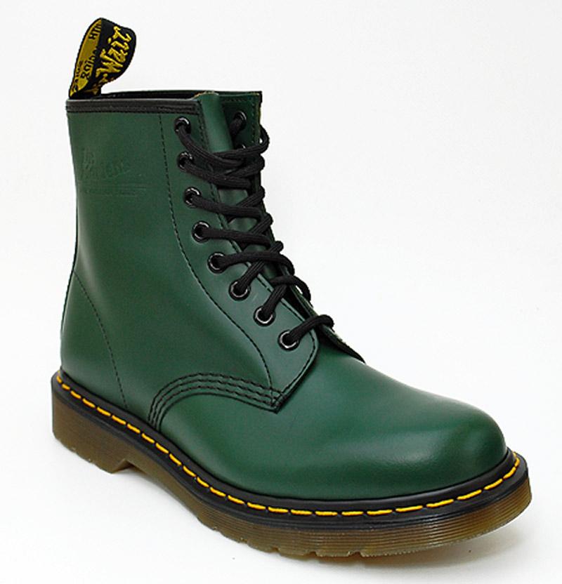 dr martens doc martens dmc 1460 boots 8 loch stiefel schuhe green neu ebay. Black Bedroom Furniture Sets. Home Design Ideas